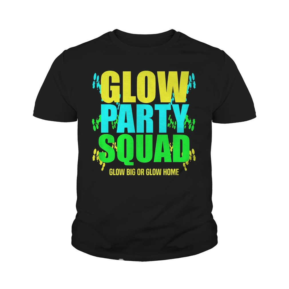 Glow Party Squad Glow Big young tee