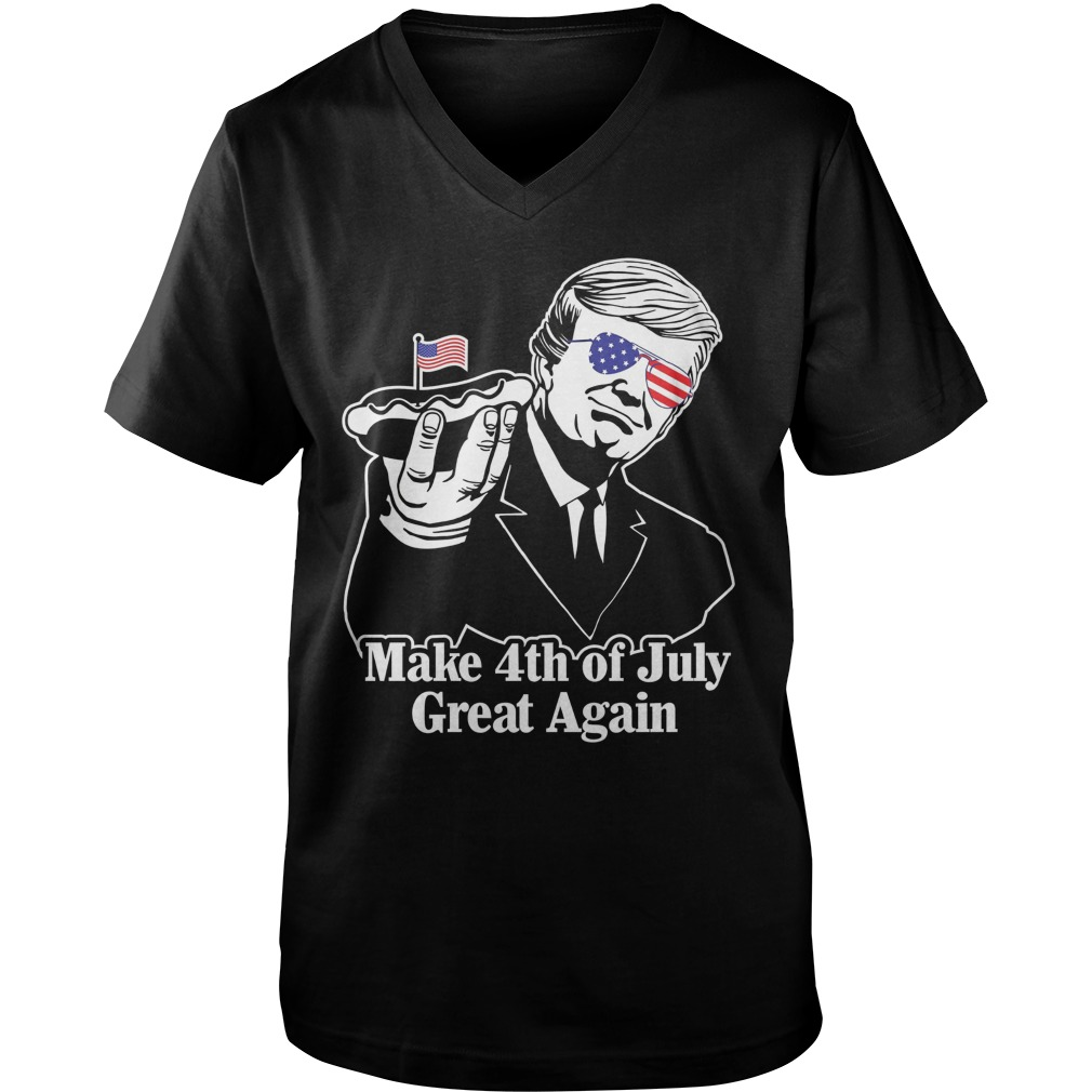 Make 4th of July Great Again v neck