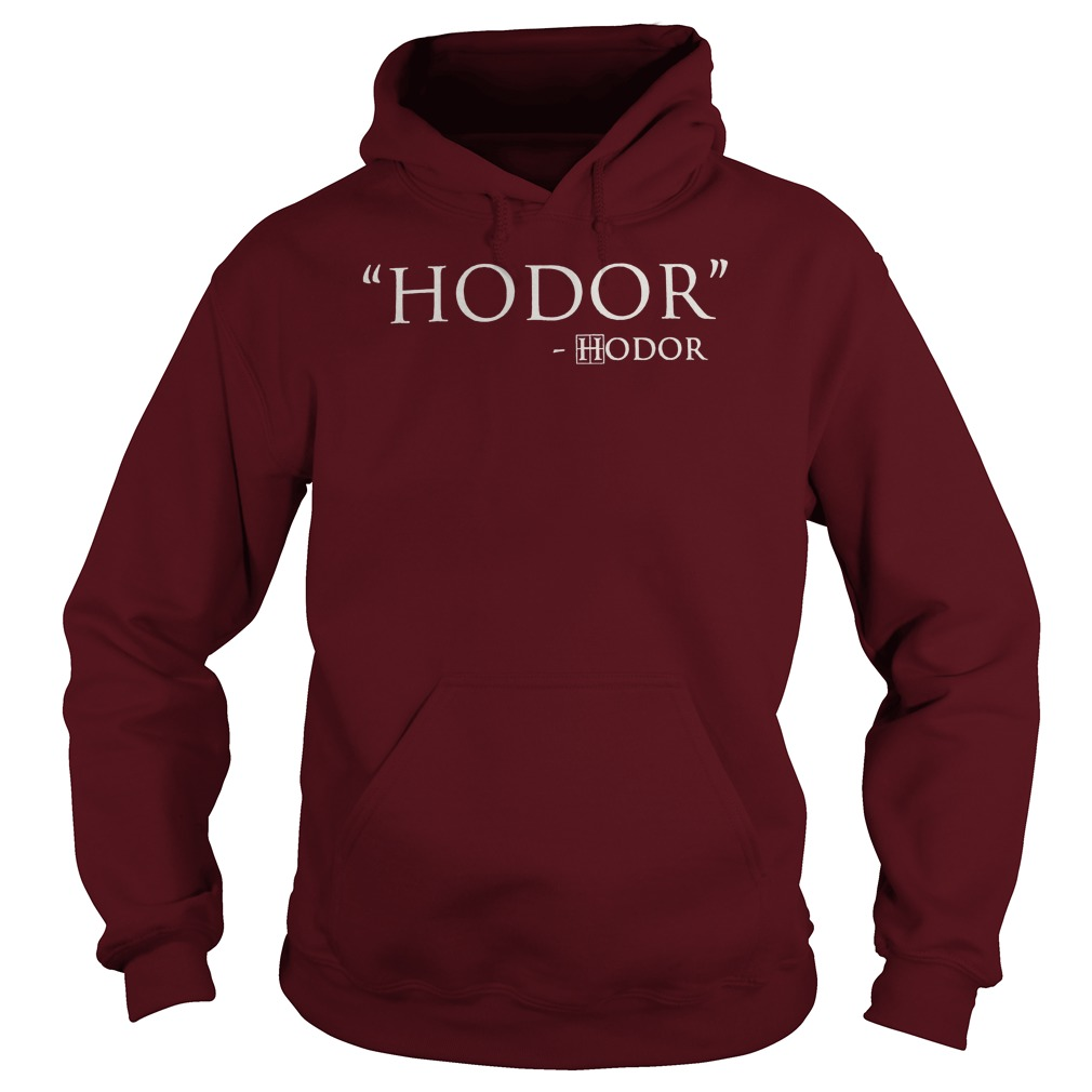 hodor game of thrones hoodie