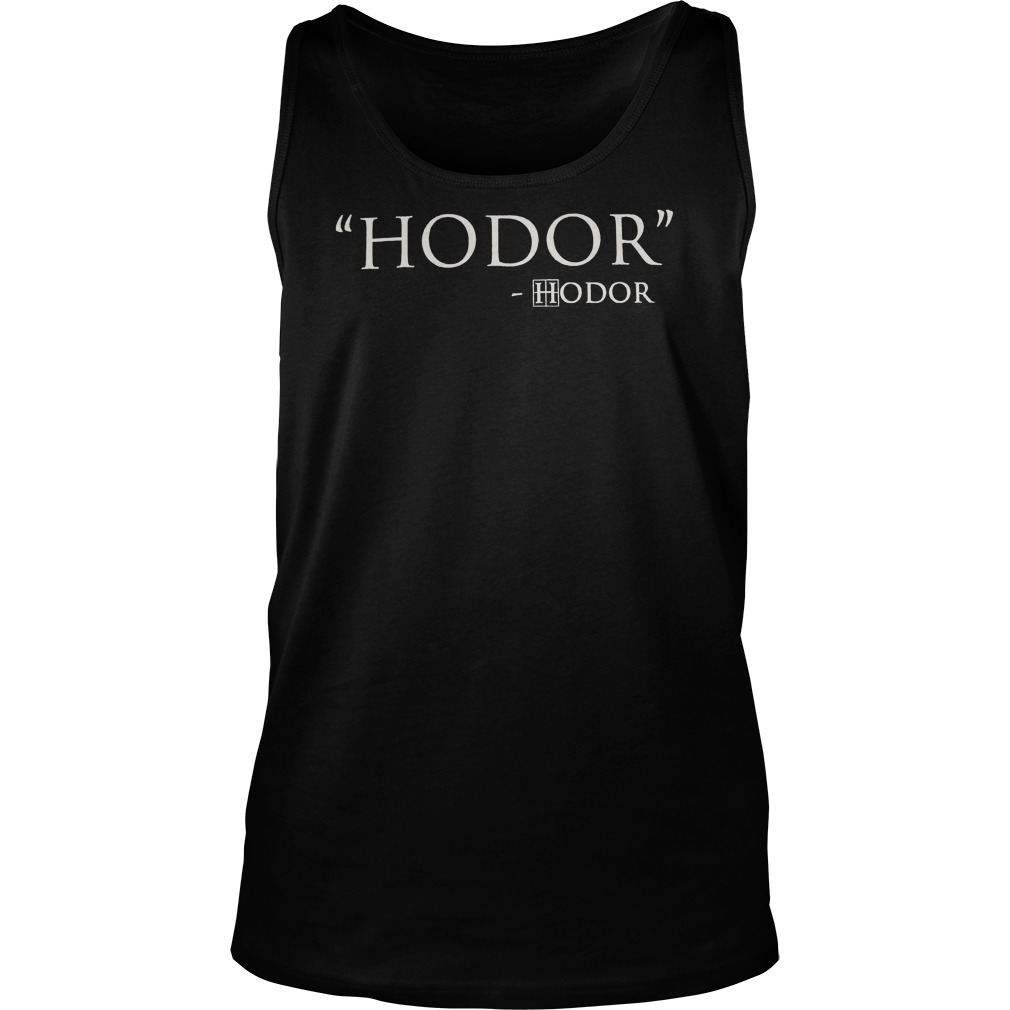 hodor game of thrones tank top
