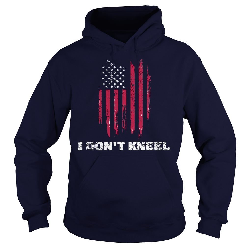 I dont kneel usa flag hoodie