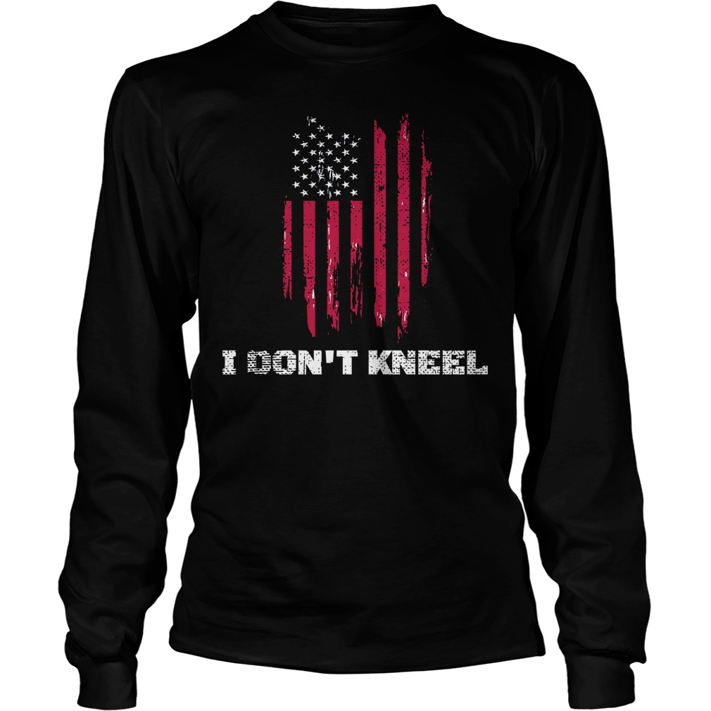 I dont kneel usa flag longsleeve tee
