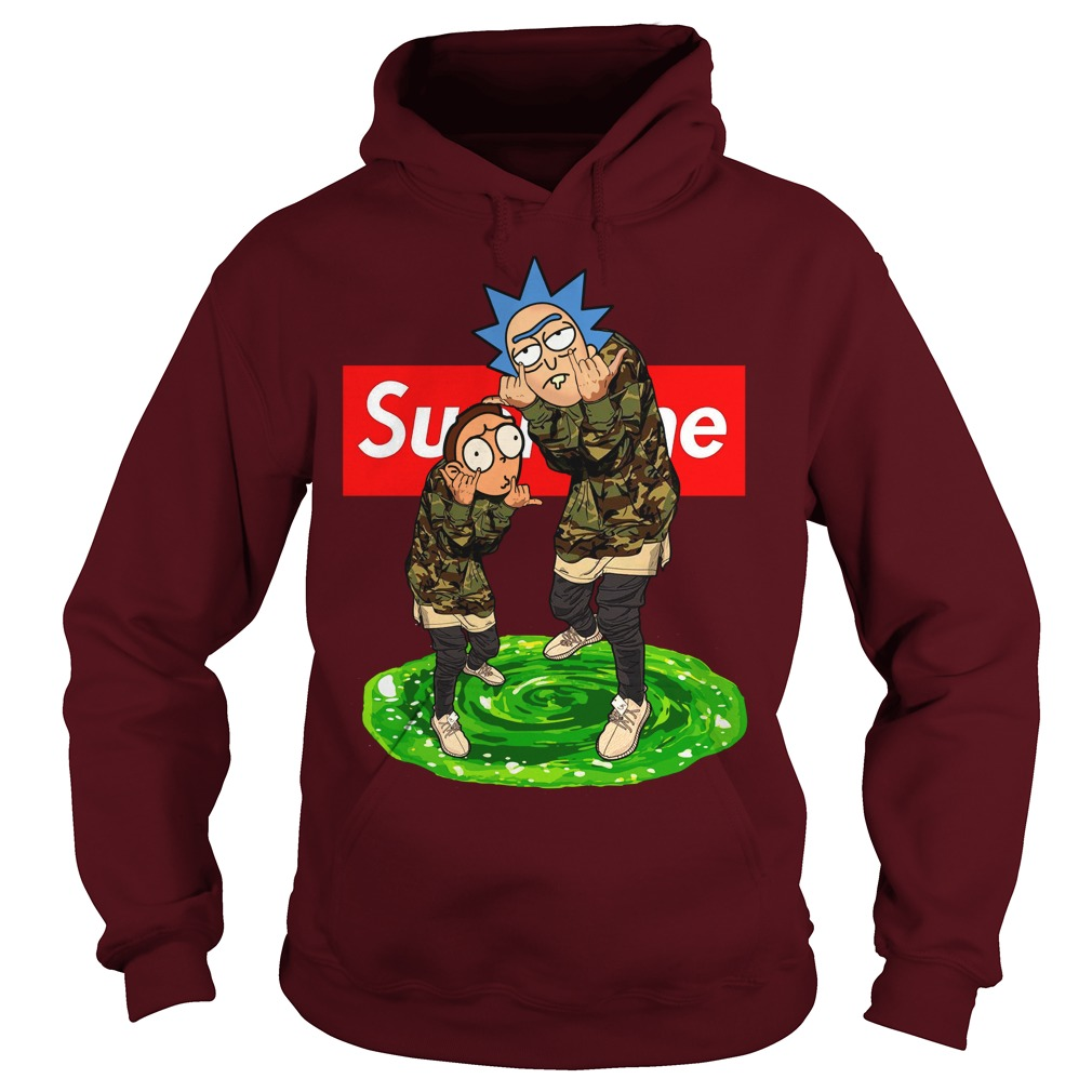 Rick and Morty Supreme hoodie
