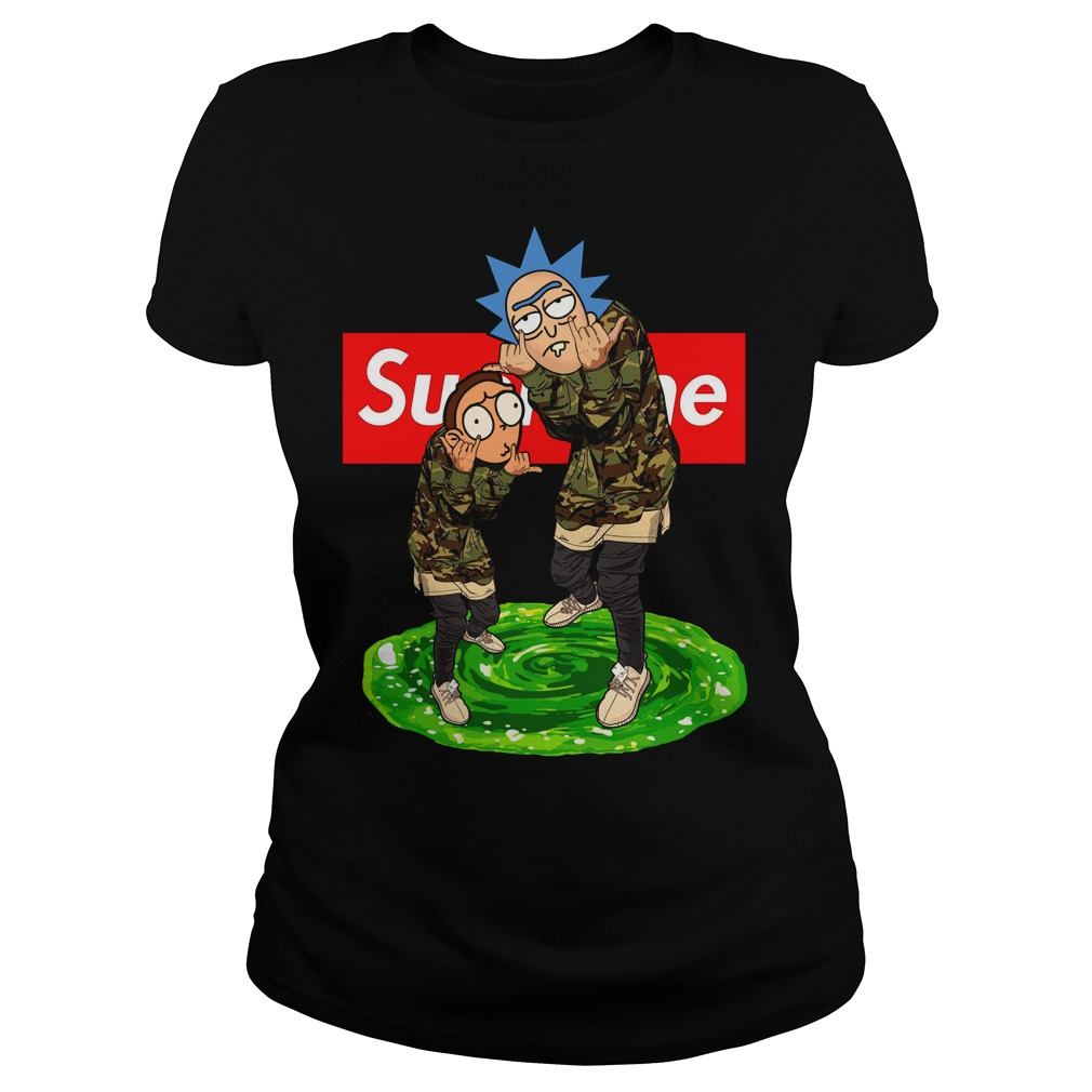 Rick and Morty Supreme guy shirt