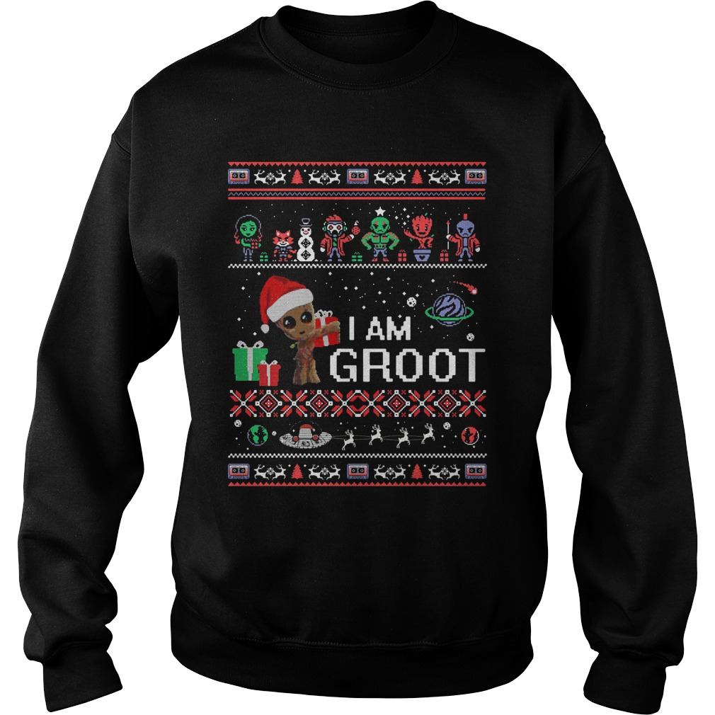 Guardians of the Galaxy I am groot ugly christmas sweater