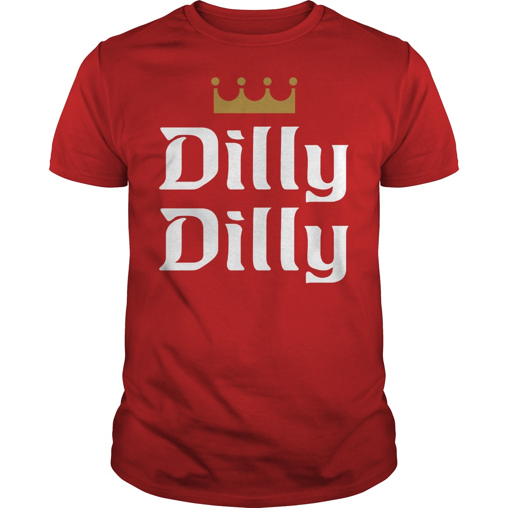 Official dilly dilly red guy shirt