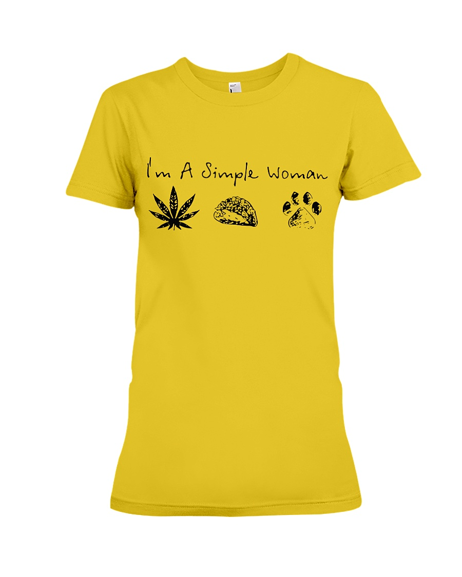 I'm a simple woman likes weed tacos dogs shirt