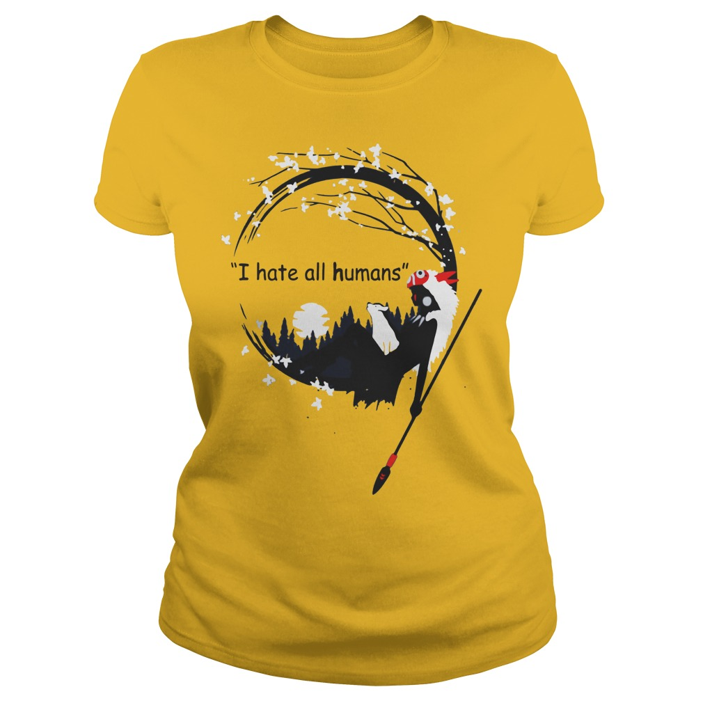 Princess Mononoke i hate all humans shirt