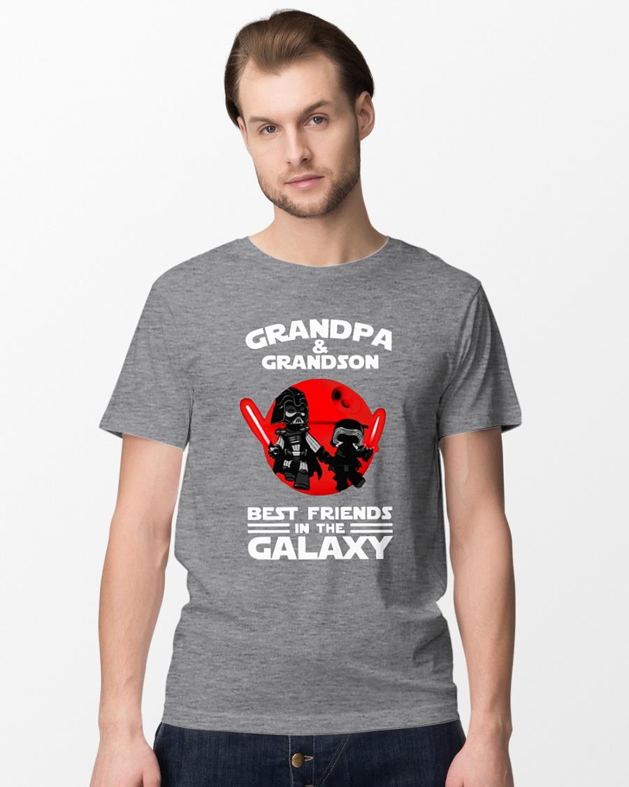 Star Wars Grandpa and grandson best friends in the galaxy shirt