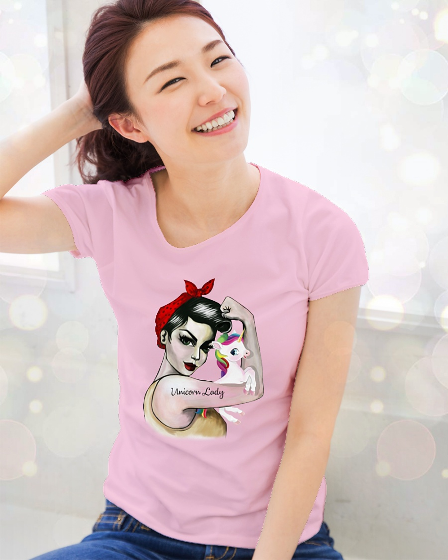 Unicorn lady shirt