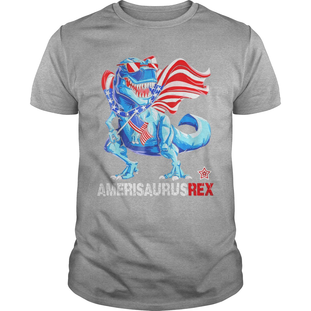 Ameri Saurus Rex American flag 4th of July shirt