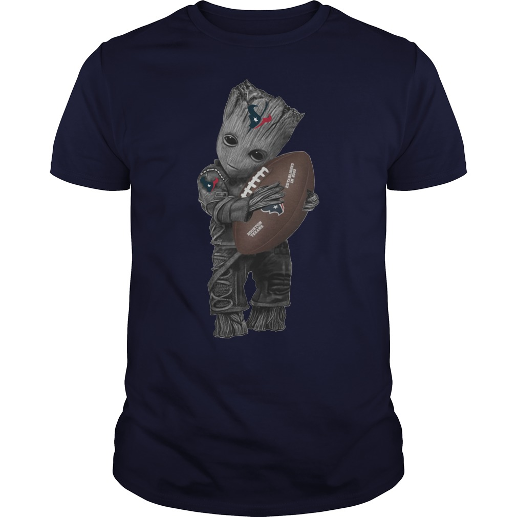 Baby Groot hug Houston Texans shirt