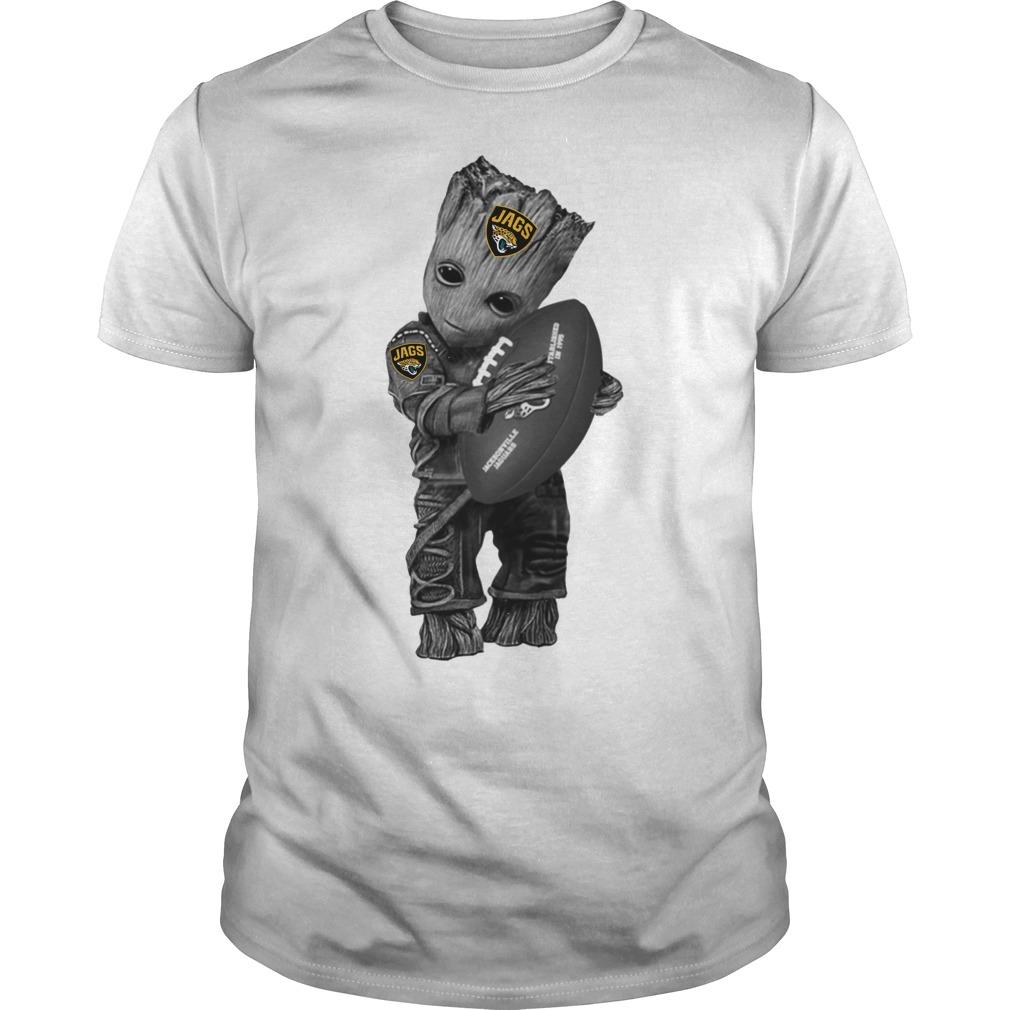 Baby Groot hug Jacksonville Jaguars shirt