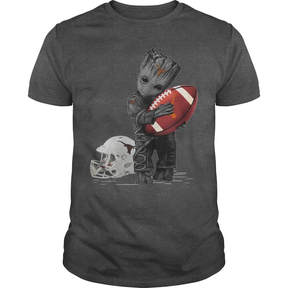 Baby Groot hug Texas Longhorns football shirt