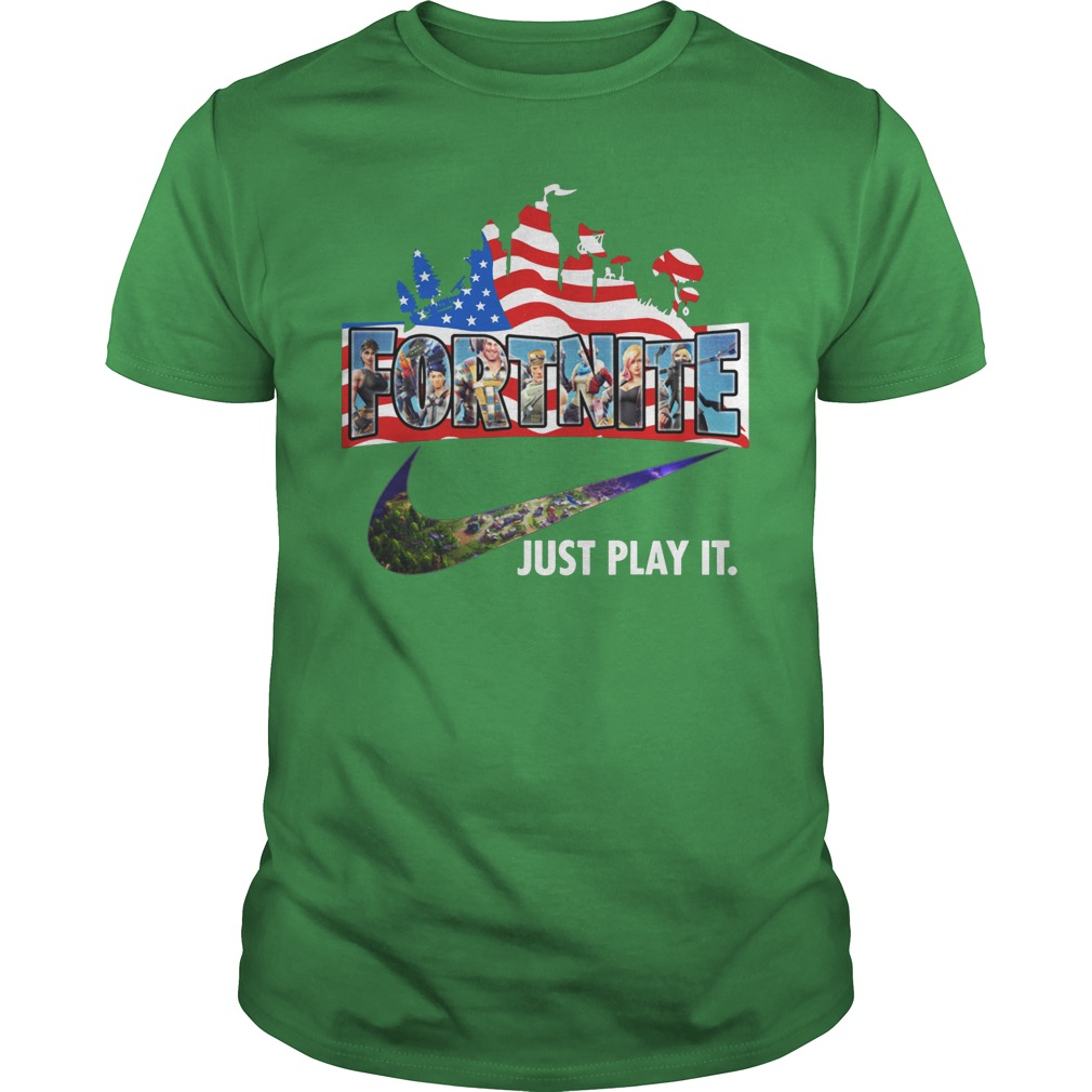 Fortnite Just play it American flag shirt