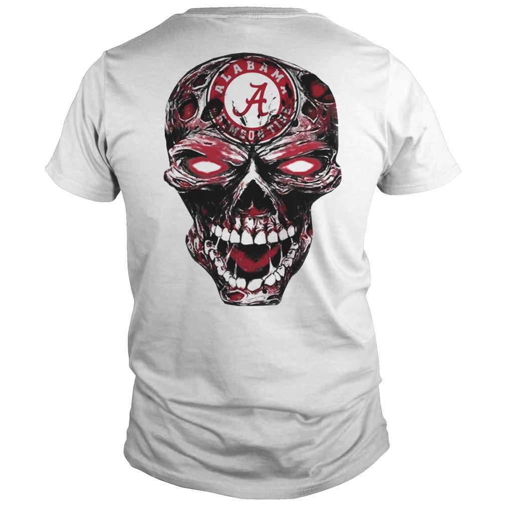 Skull Alabama Crimson Tide football shirt