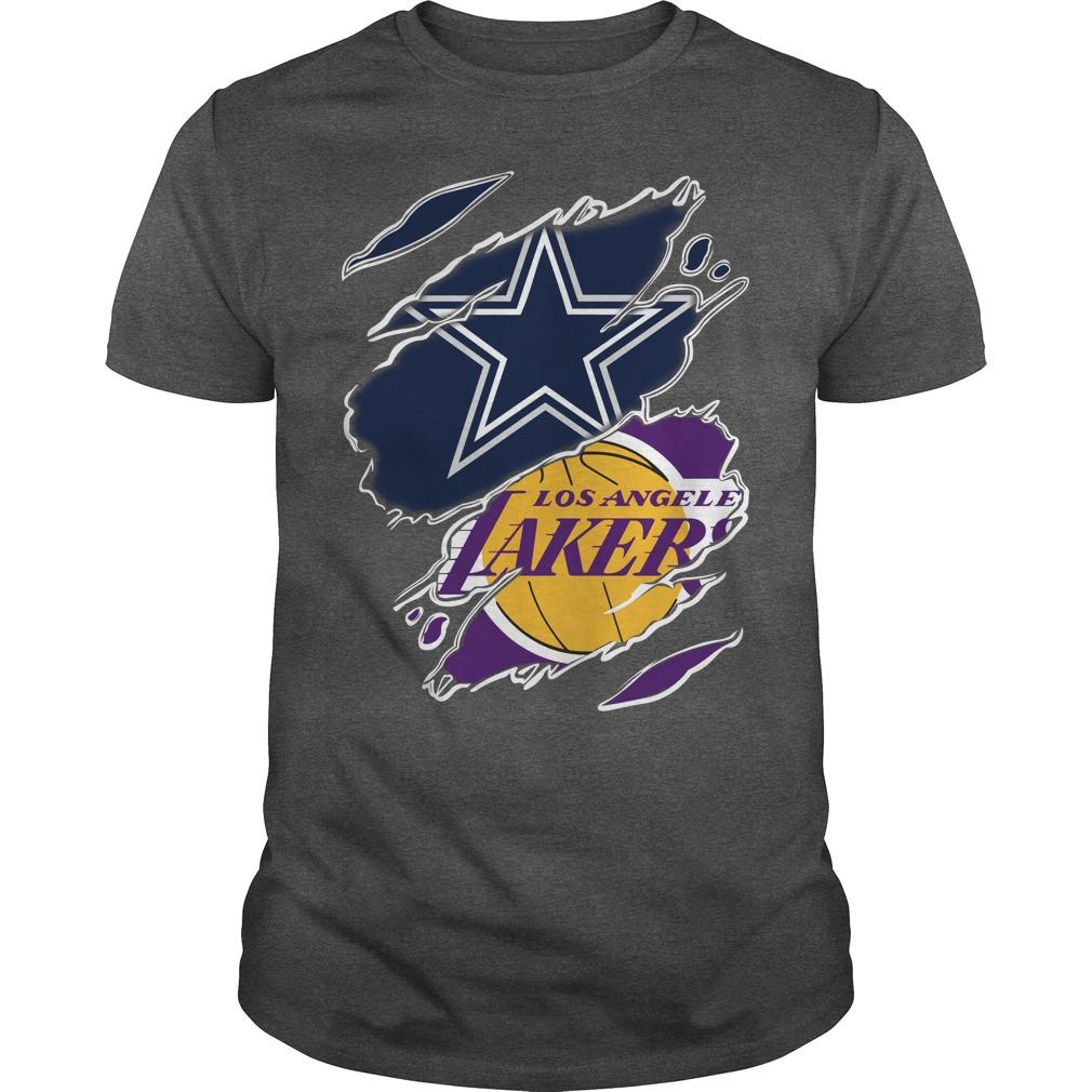 Dallas Cowboys and Los Angeles Lakers shirt