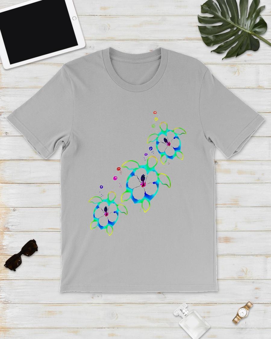 Colorful Turtles shirt
