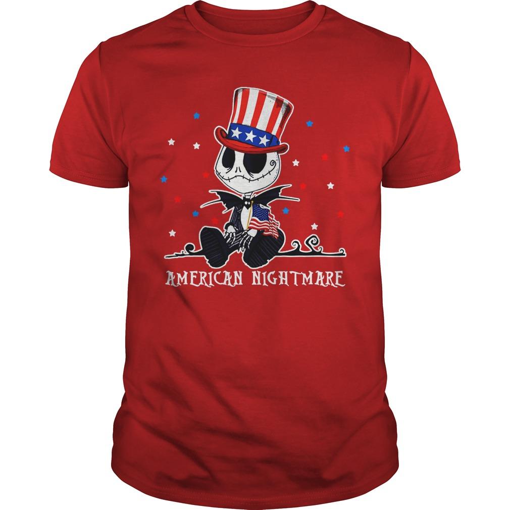 Jack Skellington American nightmare shirt