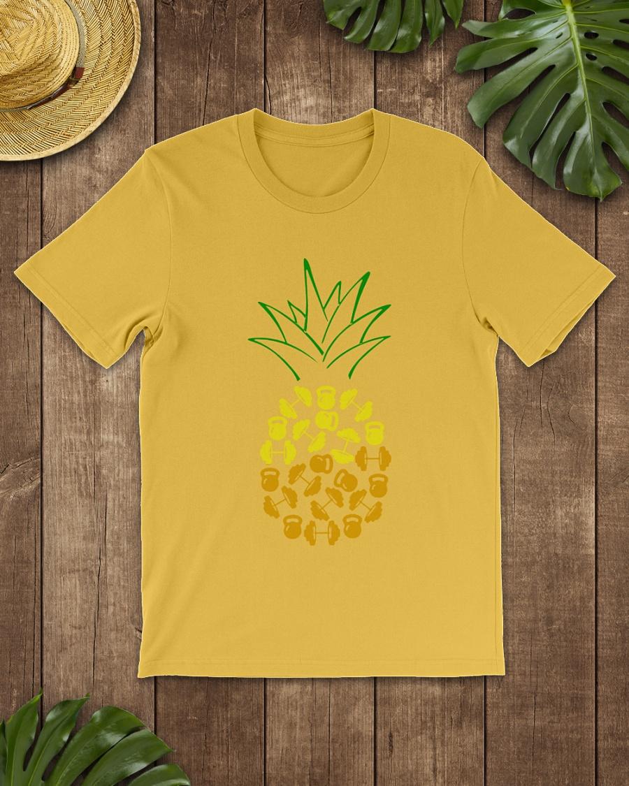 Pineapple weight lifting shirt