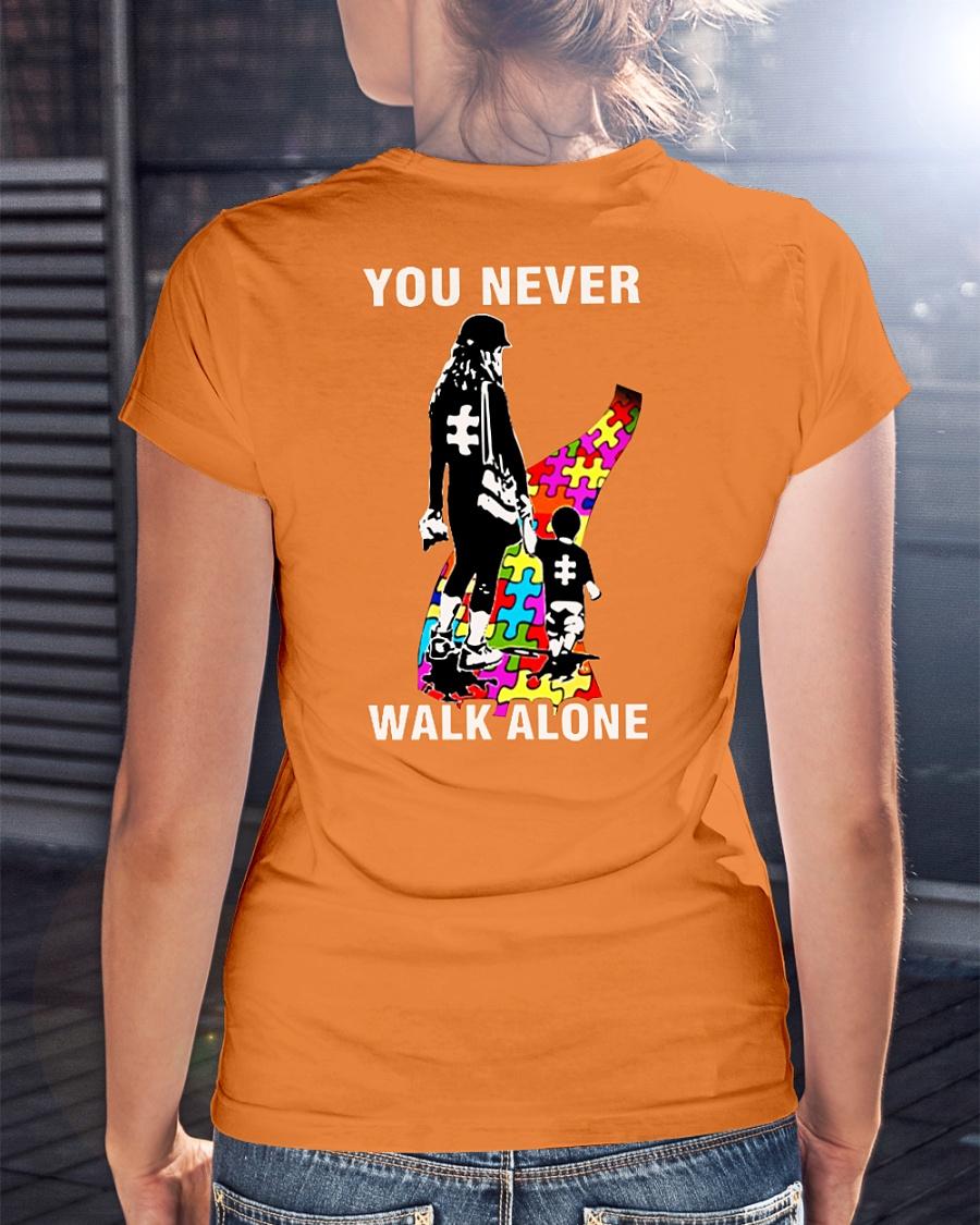 You never walk alone autism shirt