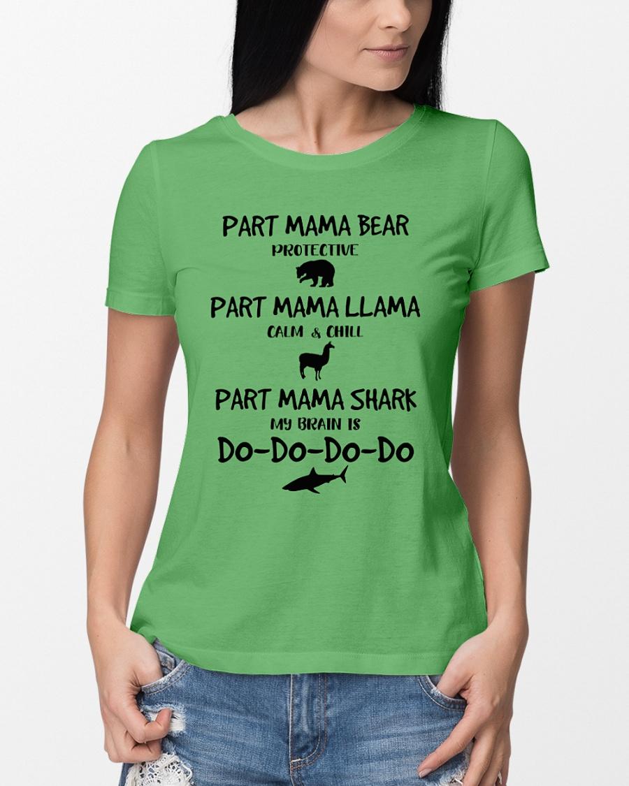Part mama bear part mama llama part mama shark shirt