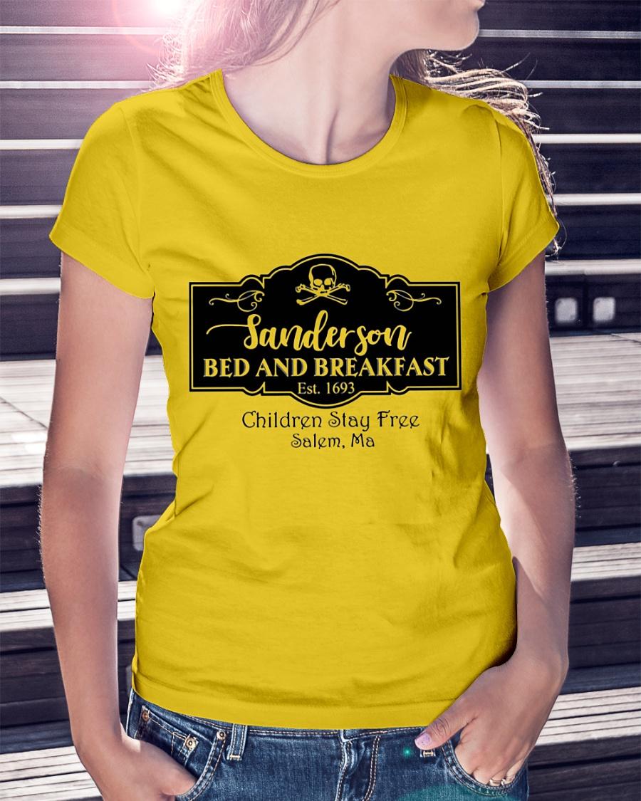 Sanderson bed and breakfast children stay free salem ma shirt