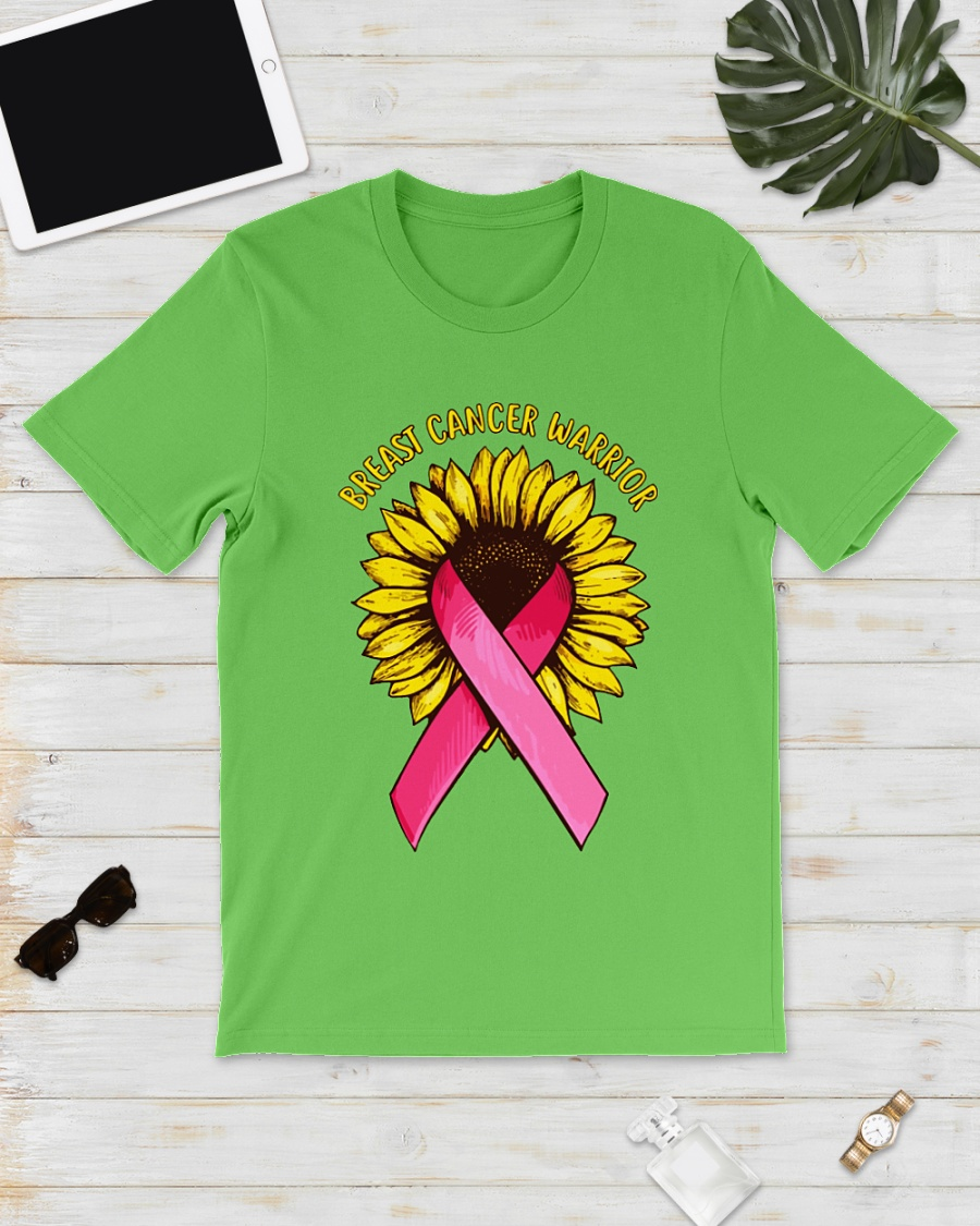 Sunflower breast cancer warrior shirt