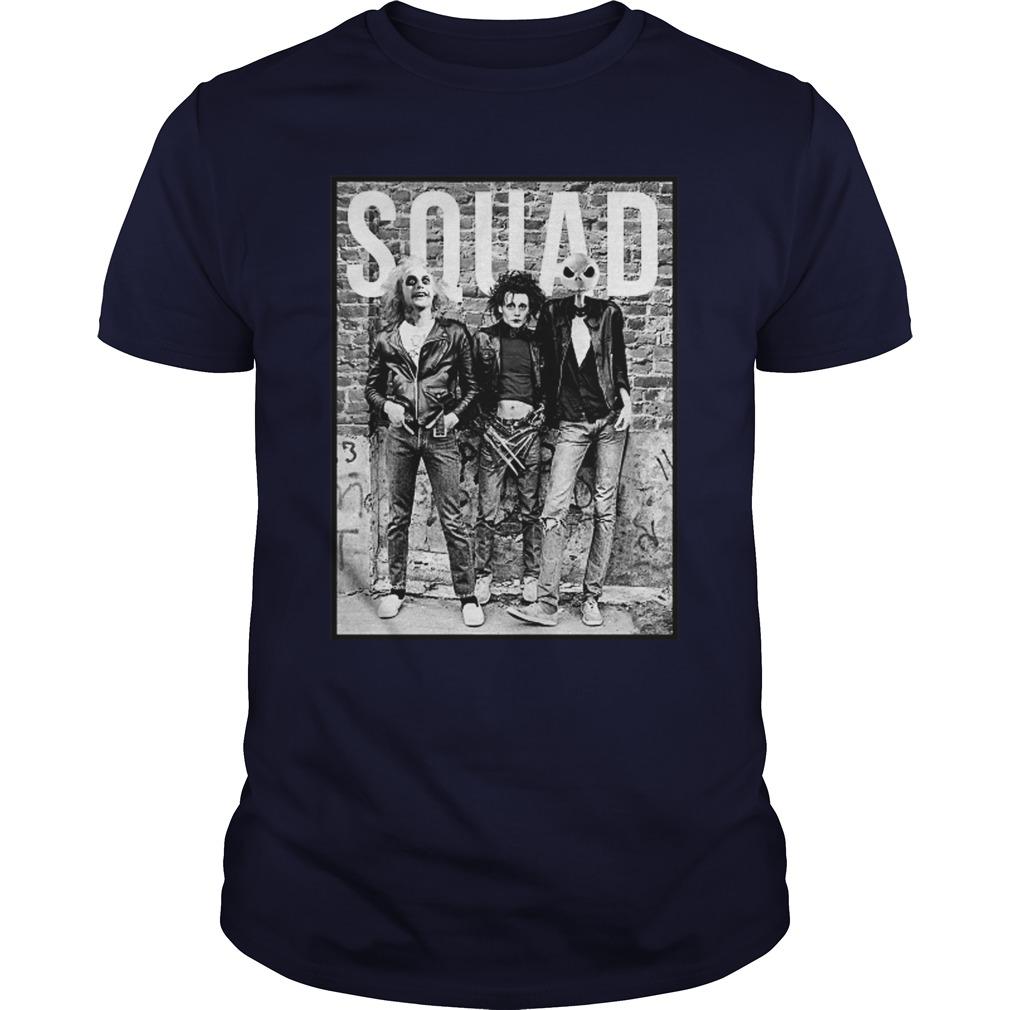 Betelgeuse Edward Scissorhands and Jack Skellington Squad shirt
