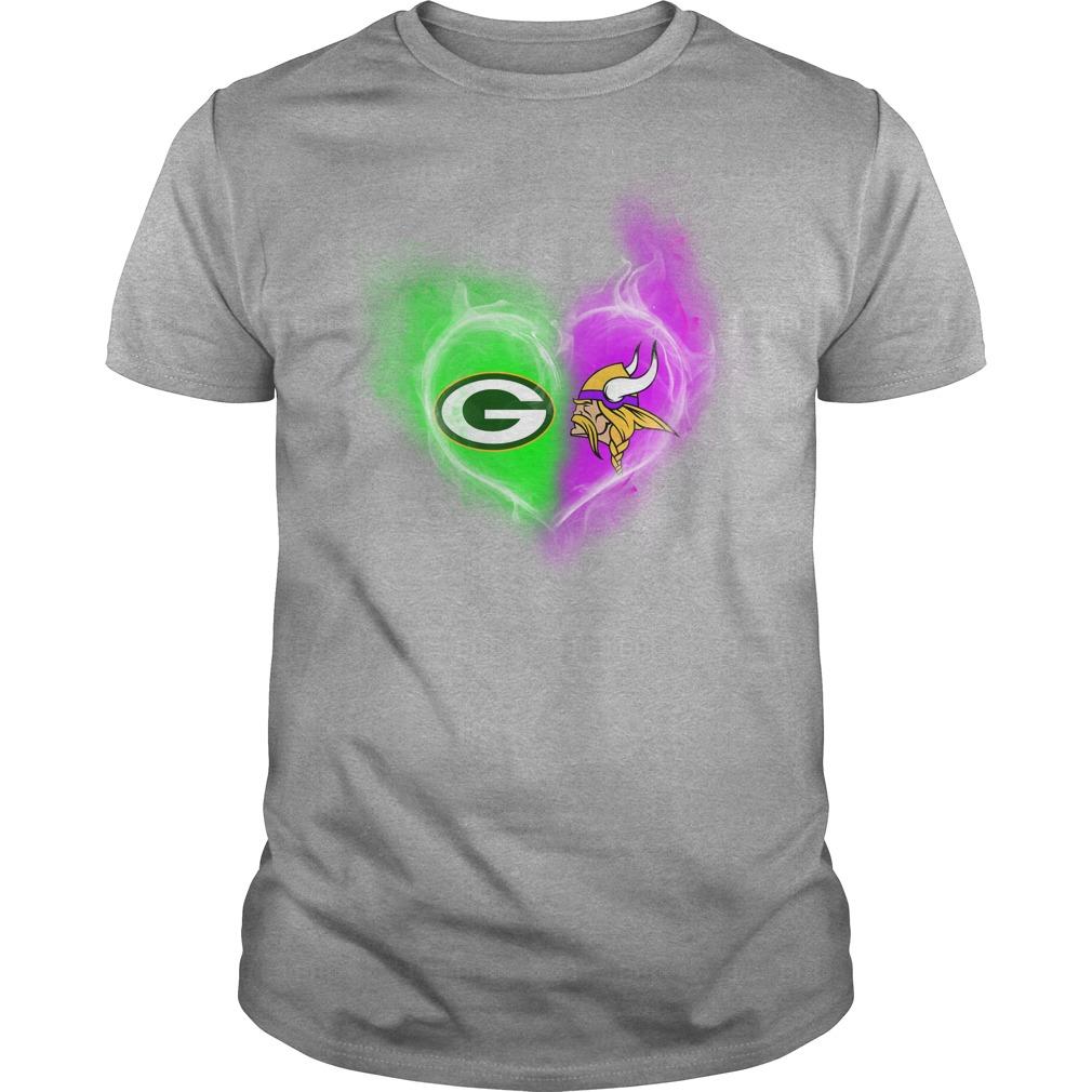 Green Bay Packers - Minnesota Vikings It's in my heart shirt