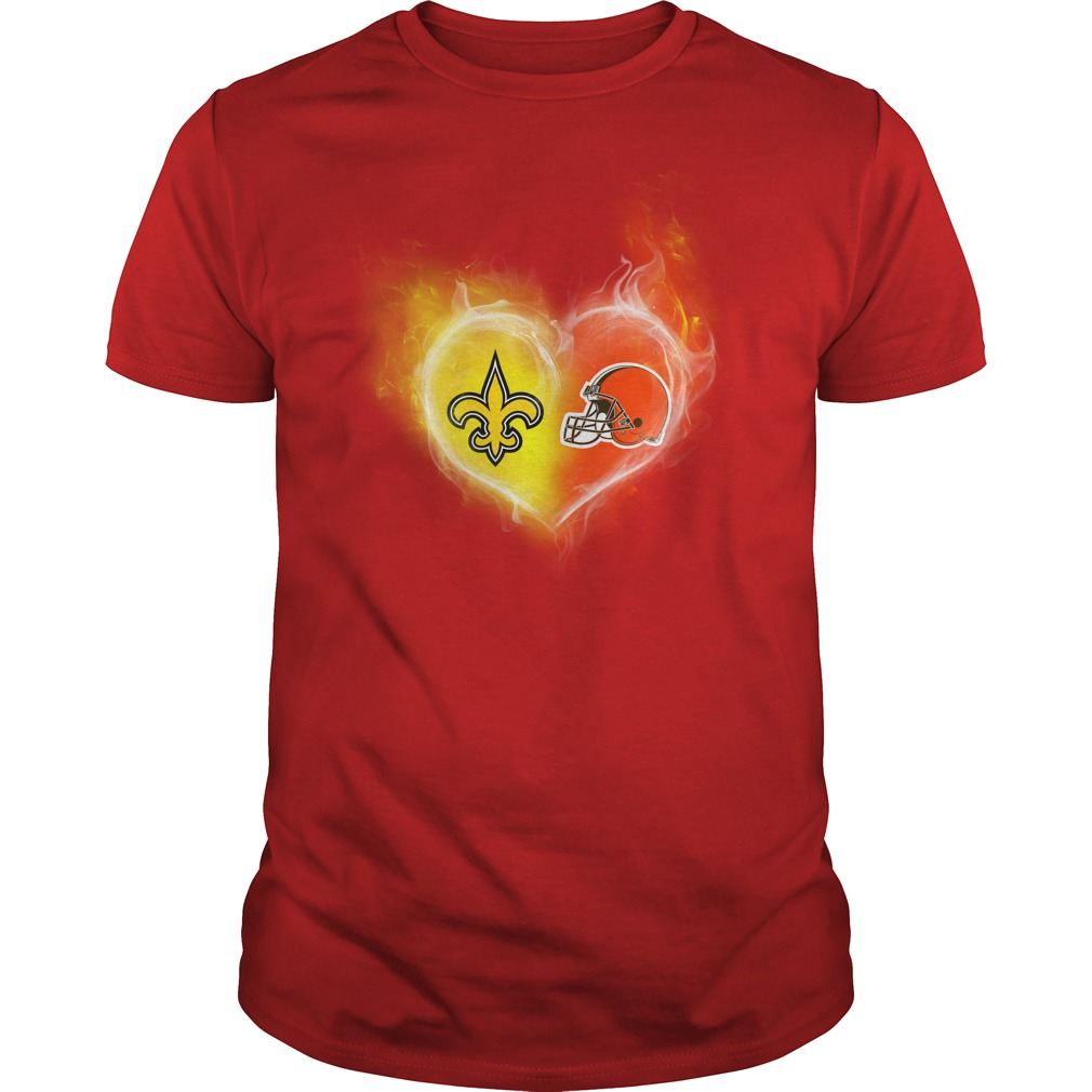 New Orleans Saints - Cleveland Browns It's in my heart shirt