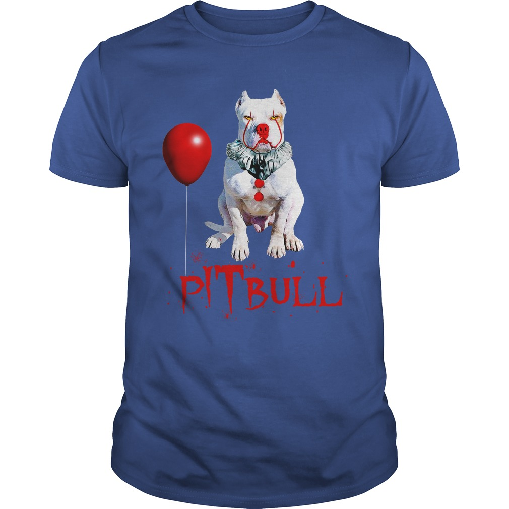 Pitbull IT Clown Halloween shirt