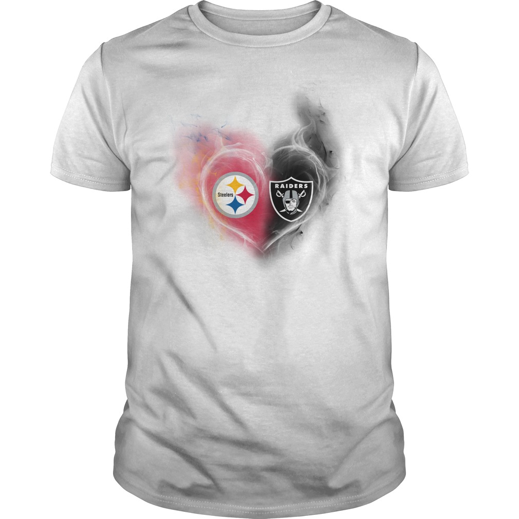 Pittsburgh Steelers - Oakland Raiders It's in my heart shirt