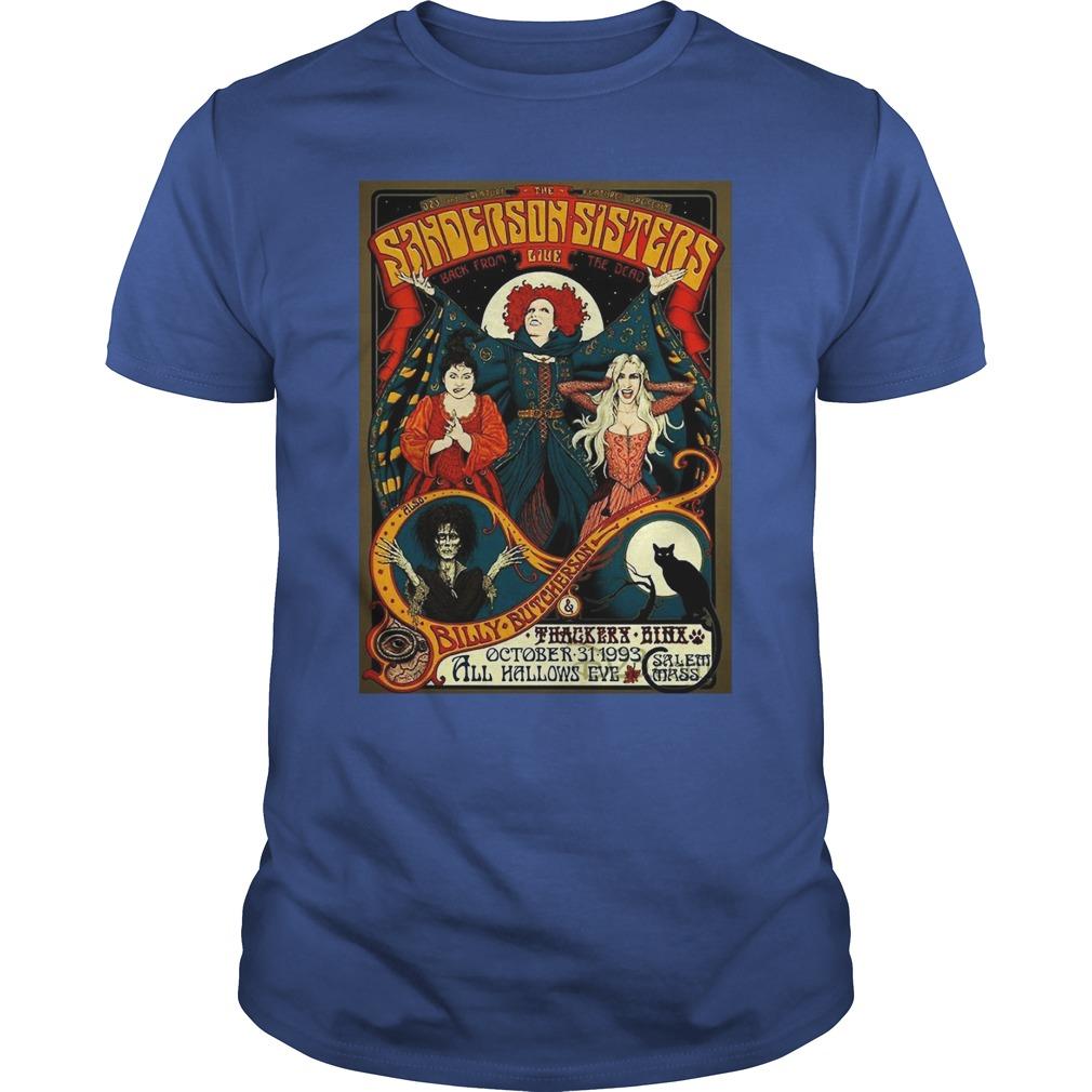 Sanderson Sisters Vintage Tour Poster shirt