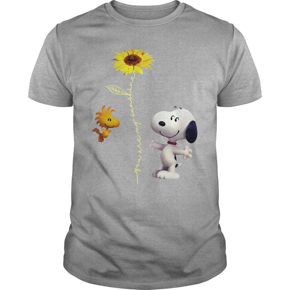 Snoopy and Woodstock You are my sunshine Sunflower shirt