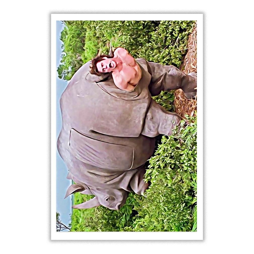 Ace Ventura When Nature Calls Rhino Scene Poster