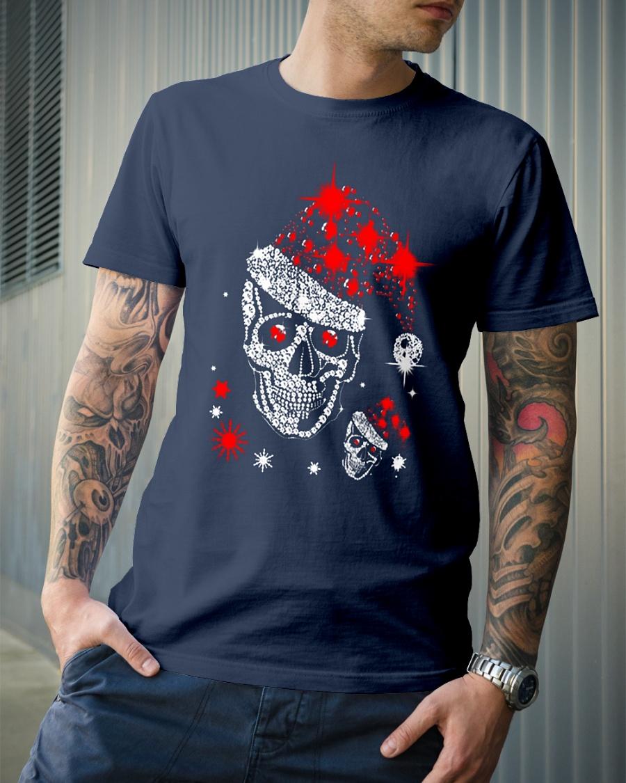 Skull illustration Christmas Glitter shirt