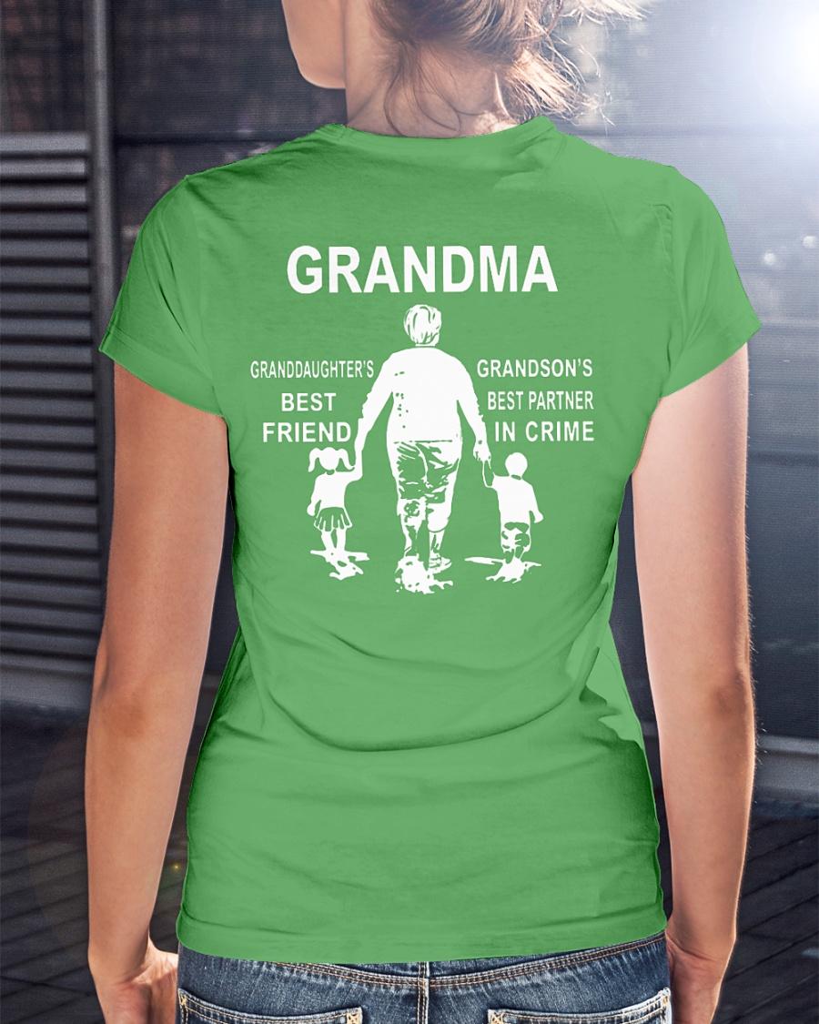 Grandma Granddaughter's Best Friend Grandson's Best Partner in Crime shirt