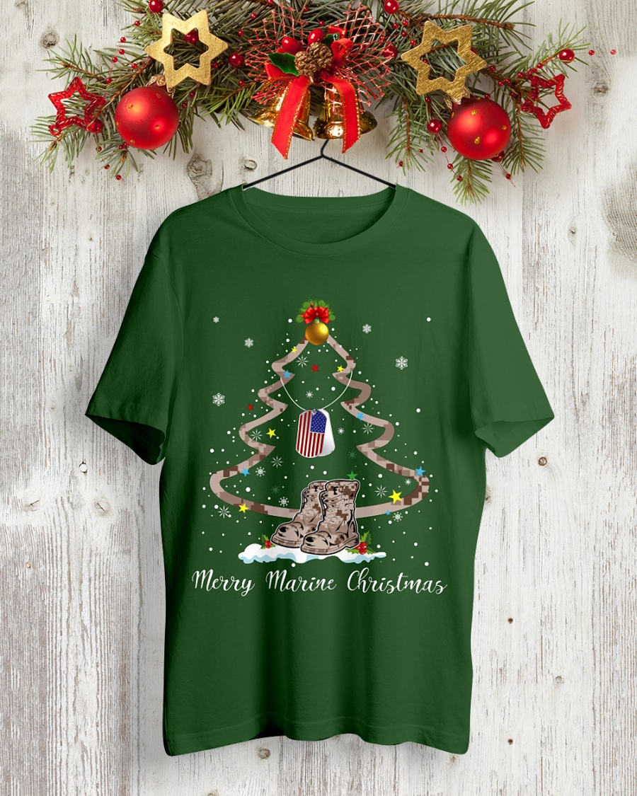 Merry Marine Christmas shirt
