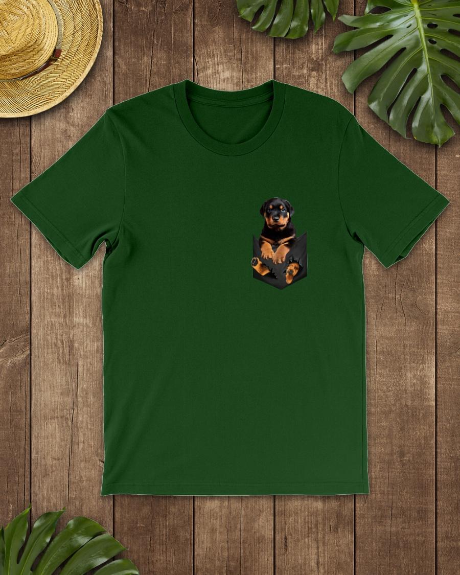 Rottweiler In Pocket shirt