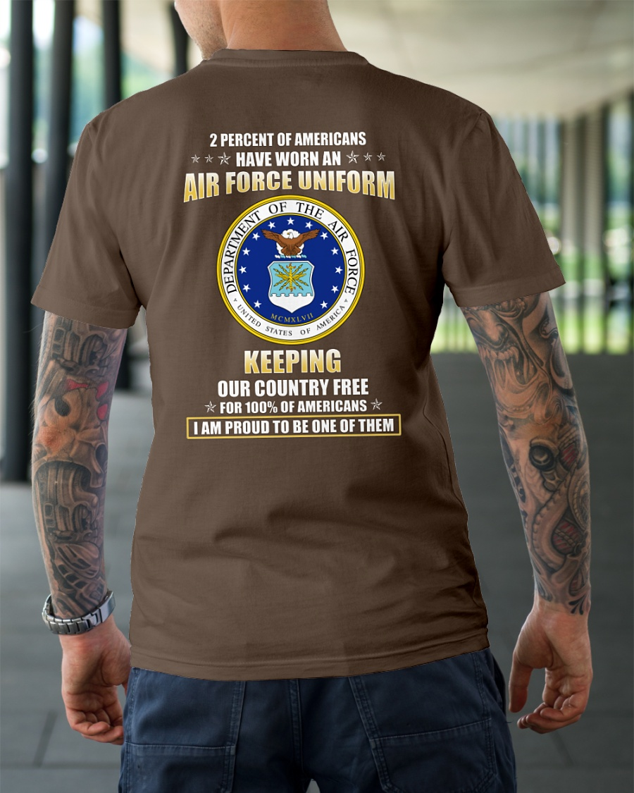 2 Percent of Americans Have Worn The Air Force Uniform shirt