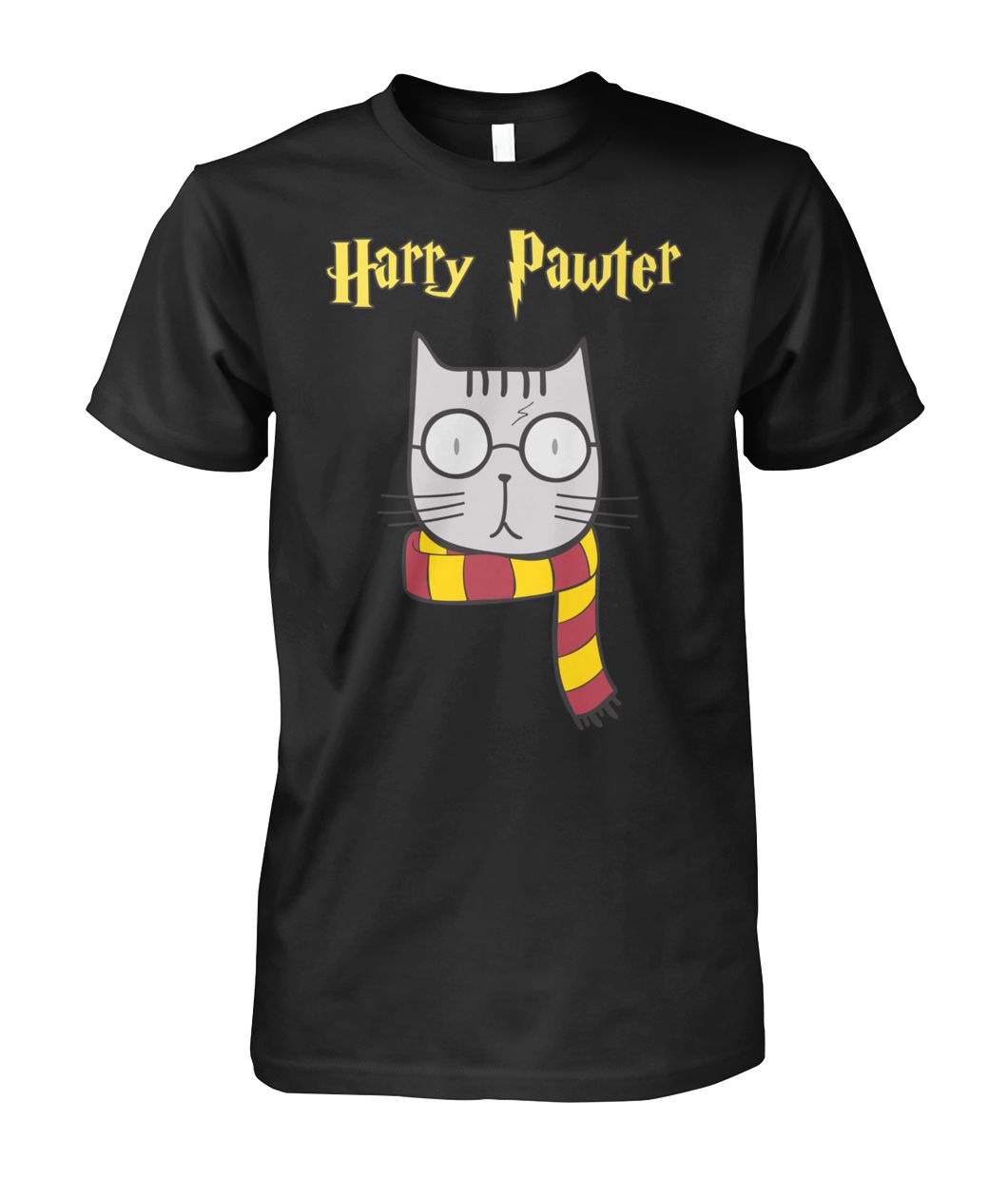 Harry Pawter Cat with Glasses unisex shirt