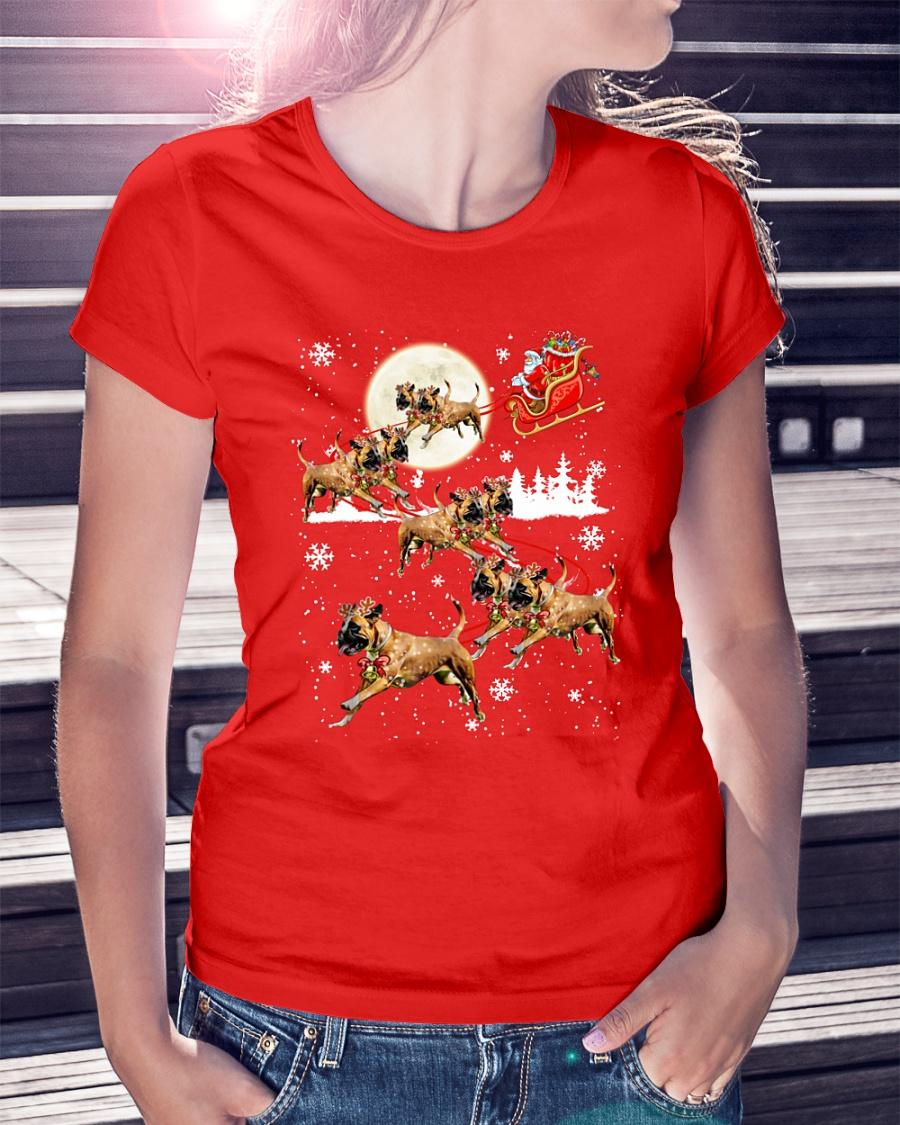 Pitbull Santa Claus's Reindeer Christmas shirt
