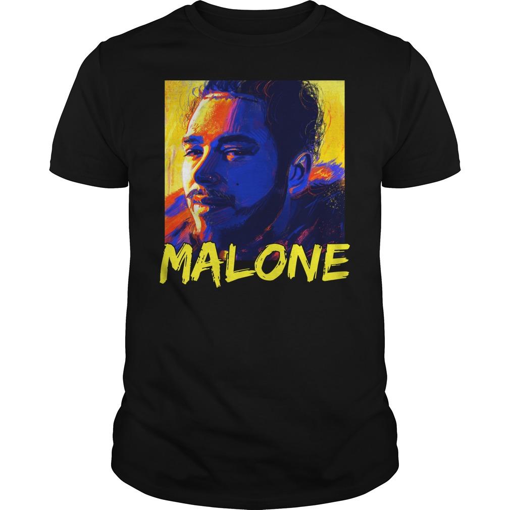 Post Malone painting unisex shirt