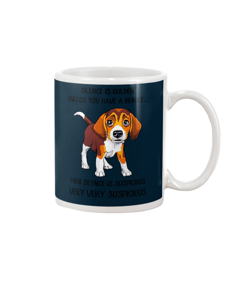 Silence is golden Unless you have a Beagle mug