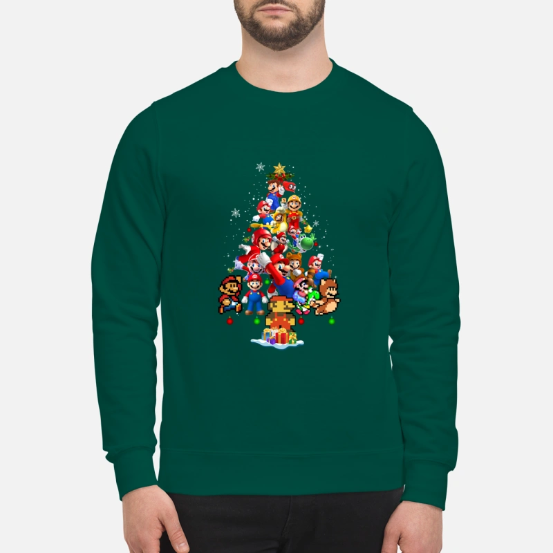 Super Mario Christmas Tree shirt