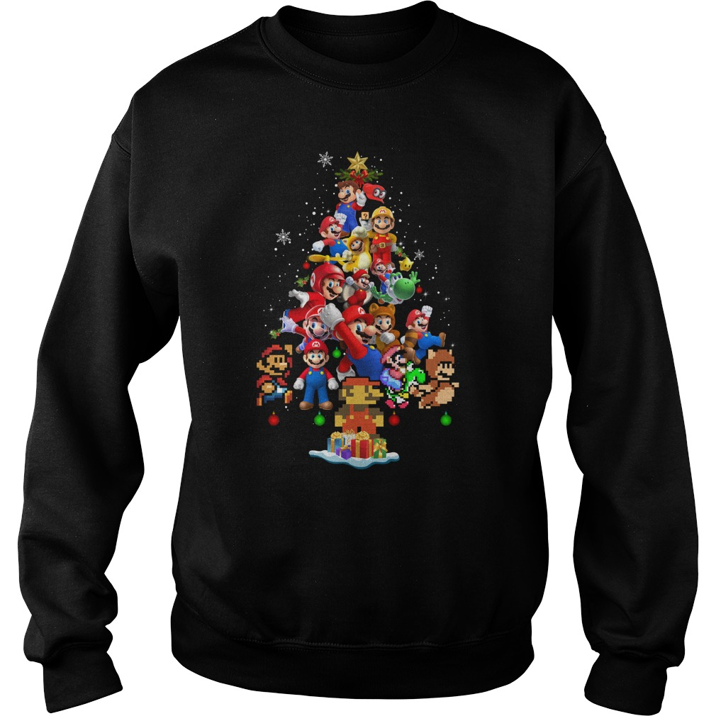 Super Mario Christmas Tree sweatshirt