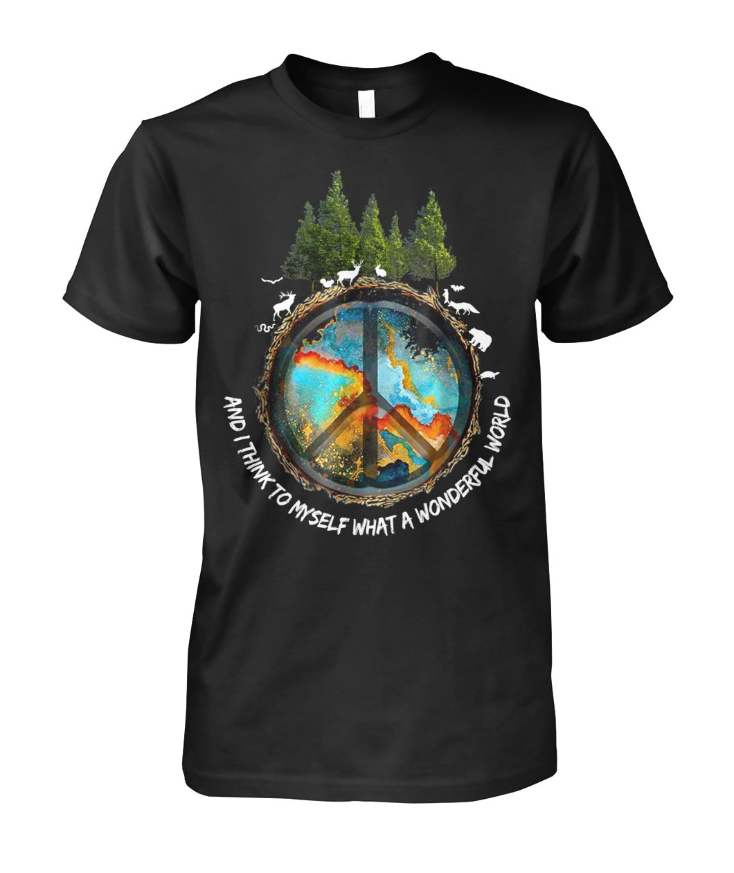The earth's environment and I think to myself what a wonderful world unisex shirt