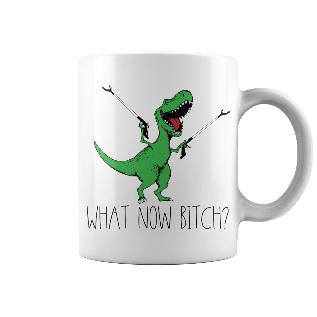 Dinosaurs T-Rex What now bitch mug