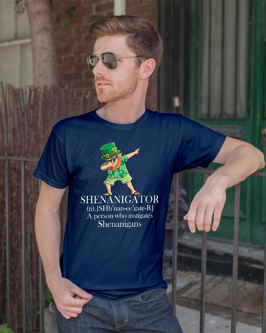 Leprechaun Hawaiian dabbing shenanigator a person who instigates shenanigans shirt and mug